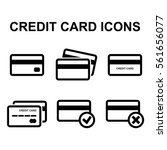 credit card vector icon set...
