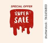 grunge color design big sale... | Shutterstock .eps vector #561656803
