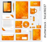 yellow set of vector corporate... | Shutterstock .eps vector #561658237