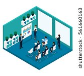 trend isometric people  office... | Shutterstock .eps vector #561660163