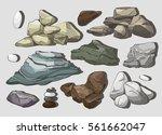 rocks and stones elements | Shutterstock .eps vector #561662047