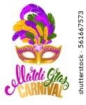 mardi gras carnaval design....   Shutterstock .eps vector #561667573