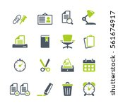 office supplies flat icons | Shutterstock .eps vector #561674917