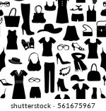fashion cloth seamless pattern. ... | Shutterstock .eps vector #561675967