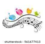 vector illustration of a music...   Shutterstock .eps vector #561677413