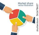 market share business concept.... | Shutterstock .eps vector #561678637
