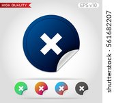 colored icon or button of cross ... | Shutterstock .eps vector #561682207