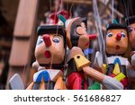 Set Of Wooden Pinocchio Dolls...