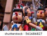 Set Of Wooden Pinocchio Dolls...