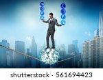 businessman in work home...   Shutterstock . vector #561694423