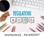 regulations  business concept.... | Shutterstock . vector #561696547