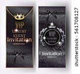 vip black elegant invitation... | Shutterstock .eps vector #561708127