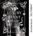 luxury event invitation shiny... | Shutterstock .eps vector #561708847