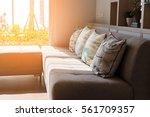 contemporary interior of living ... | Shutterstock . vector #561709357