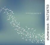 molecule dna and neurons vector.... | Shutterstock .eps vector #561718753