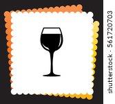 wineglass   icon. vector design.