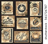 set of postage stamps on the... | Shutterstock .eps vector #561726787