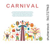 vector collection with circus ... | Shutterstock .eps vector #561727963