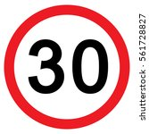 30mph speed limit sign  vector  ... | Shutterstock .eps vector #561728827