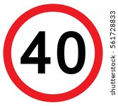 40mph speed limit sign  vector  ... | Shutterstock .eps vector #561728833