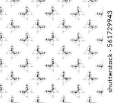 seamless pattern with butterfly.... | Shutterstock .eps vector #561729943