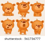 creation set of teddy bear... | Shutterstock .eps vector #561736777