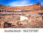 rome  italy. colosseum ... | Shutterstock . vector #561737587