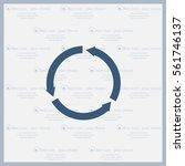 circular arrows vector icon | Shutterstock .eps vector #561746137