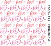 romantic seamless pattern with... | Shutterstock .eps vector #561747013
