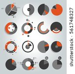 big set of round  circle chart  ... | Shutterstock .eps vector #561748327