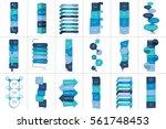 mega set of option step by step ... | Shutterstock .eps vector #561748453