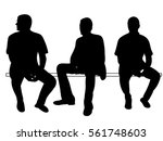 vector  isolated  silhouette of ... | Shutterstock .eps vector #561748603