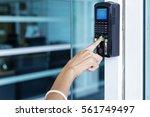 officer scan finger print for... | Shutterstock . vector #561749497