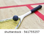 Squash Racket And Ball On The...