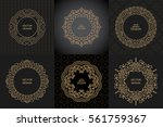 set of monogram line vintage... | Shutterstock .eps vector #561759367