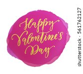 vector gold valentine day text... | Shutterstock .eps vector #561762127
