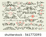 valentine's day elements for... | Shutterstock .eps vector #561772093