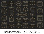 big vector set of vintage gold... | Shutterstock .eps vector #561772513