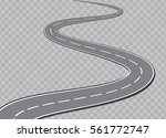winding road isolated... | Shutterstock .eps vector #561772747