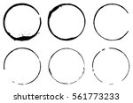 vector set of coffee ring... | Shutterstock .eps vector #561773233
