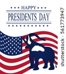 presidents day. greeting card... | Shutterstock .eps vector #561773947
