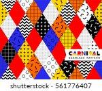 carnival seamless pattern in... | Shutterstock .eps vector #561776407