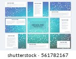 big set of vector templates for ... | Shutterstock .eps vector #561782167