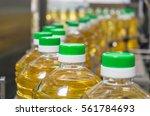 bottle with sunflower oil on...   Shutterstock . vector #561784693