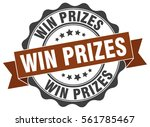 win prizes. stamp. sticker.... | Shutterstock .eps vector #561785467
