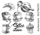 Coffee And Desserts Vector Set...