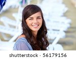 portrait of pretty young lady... | Shutterstock . vector #56179156