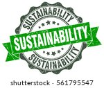 sustainability. stamp. sticker. ... | Shutterstock .eps vector #561795547