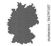 the map of germany. silhouette... | Shutterstock .eps vector #561797107