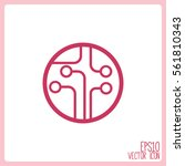circuit board  technology icon. | Shutterstock .eps vector #561810343